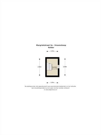 Floorplan - Margrietstraat 3a, 7681 WJ Vroomshoop