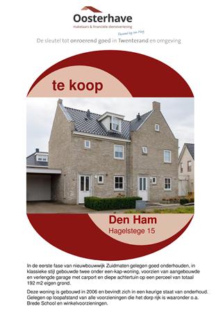 Brochure preview - VERKOOPBROCHURE HAGELSTEGE 15 DEN HAM.pdf