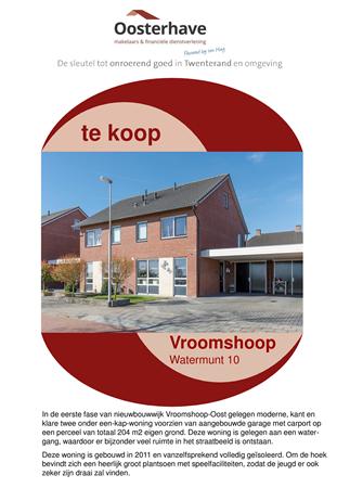 Brochure preview - VERKOOPBROCHURE WATERMUNT 10 VROOMSHOOP.pdf