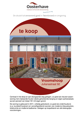 Brochure preview - VERKOOPBROCHURE JULIANASTRAAT 92 VROOMSHOOP.pdf