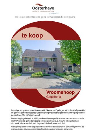 Brochure preview - VERKOOPBROCHURE GAGELHOF 8 VROOMSHOOP.pdf