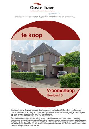 Brochure preview - VERKOOPBROCHURE Hoefblad 8 Vroomshoop.pdf