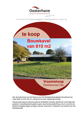 Brochure preview - BROCHURE VO-V16140 BOUWKAVEL ZWOLSEKANAAL 24 VROOMSHOOP 08-06-18.pdf