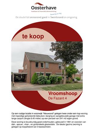 Brochure preview - VERKOOPBROCHURE de Fazant 4 Vroomshoop.pdf