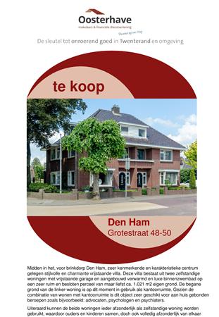 Brochure preview - VERKOOPBROCHURE GROTESTRAAT 48-50 DEN HAM.pdf