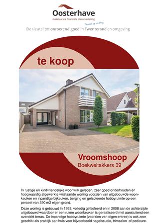 Brochure preview - VERKOOPBROCHURE Boekweitakkers 39 Vroomshoop OH.pdf