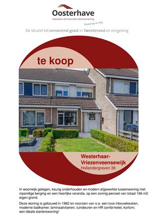 Brochure preview - VERKOOPBROCHURE HOLLANDERGRAVEN 38 WESTERHAAR VO-V18151.pdf