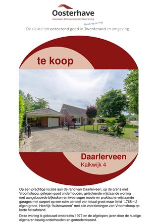 Brochure preview - VERKOOPBROCHURE Kalkwijk 4 Daarlerveen.pdf