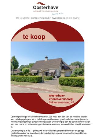 Brochure preview - VERKOOPBROCHURE Bakkersveenweg 43 Westerhaar.pdf