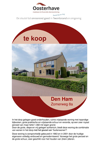 Brochure preview - VERKOOPBROCHURE ZOMERWEG 8A DEN HAM VO-V18155.pdf