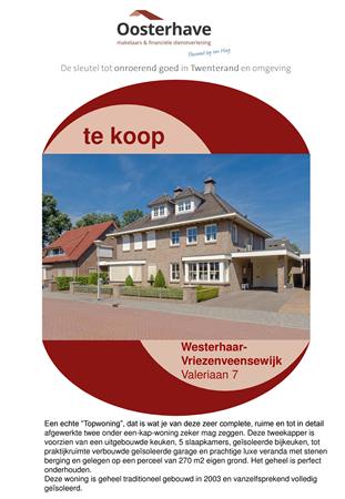 Brochure preview - VERKOOPBROCHURE Valeriaan 7 Westerhaar.pdf