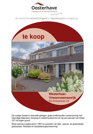 Brochure preview - VERKOOPBROCHURE ENTERGRAVEN 23 WESTERHAAR.pdf