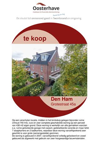 Brochure preview - VERKOOPBROCHURE Grotestraat 45a Den Ham.pdf