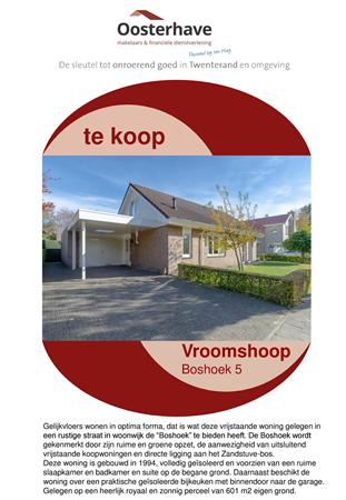 Brochure preview - VERKOOPBROCHURE BOSHOEK 5 VROOMSHOOP VO-V18175.pdf