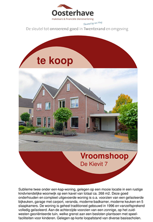 Brochure preview - VERKOOPBROCHURE De Kievit 7 Vroomshoop.pdf