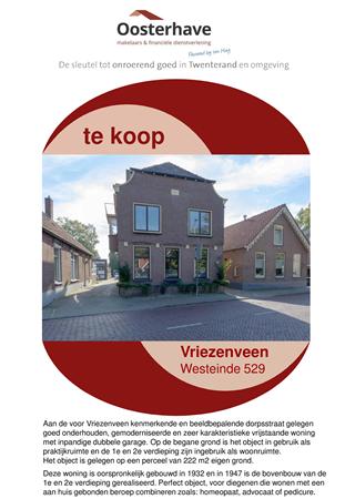 Brochure preview - VERKOOPBROCHURE Westeinde 529 Vriezenveen.pdf