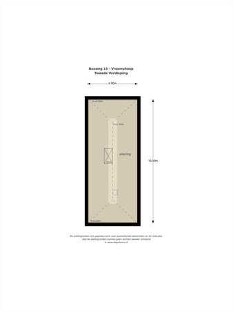 Floorplan - Bosweg 15, 7681 GJ Vroomshoop