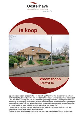 Brochure preview - VERKOOPBROCHURE BOSWEG 15 VROOMSHOOP.pdf