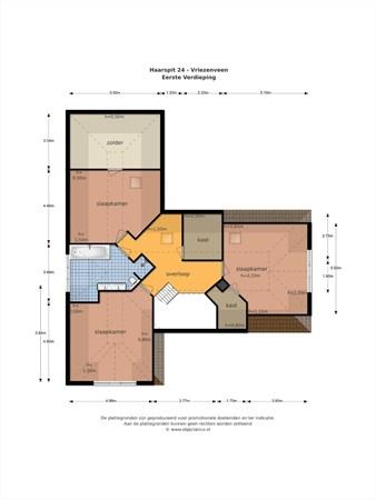 Floorplan - Haarspit 24, 7671 NC Vriezenveen