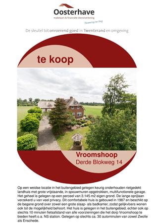 Brochure preview - VERKOOPBROCHURE 3e BLOKWEG 14 VROOMSHOOP.pdf