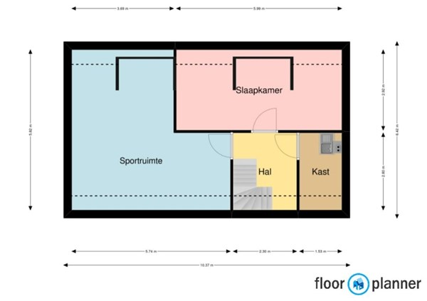 Floorplan - Wouterstraat 52, 5966 PR America