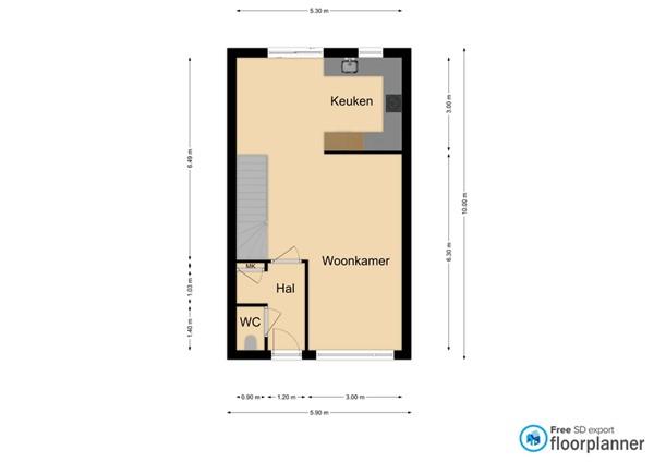 Floorplan - Schansstraat 15, 5961 DA Horst