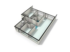 3D Plattegrond appartement