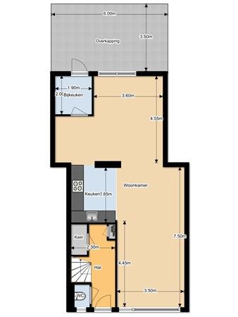 Floorplan - Hanne Bruininghstraat 72, 9581 CM Musselkanaal
