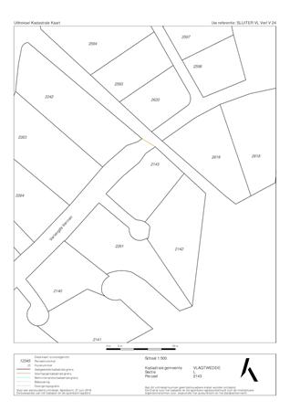 Brochure preview - uittreksel kadastrale kaart met omgevingskaart vlagtwedde l 2143