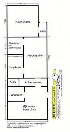 Floorplan - Weenderstraat 100, 9541 AJ Vlagtwedde