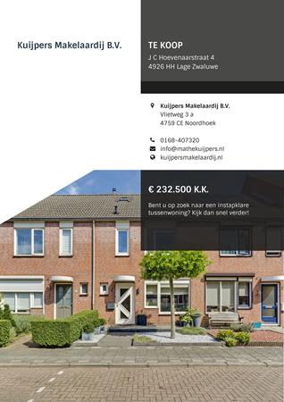 Brochure preview - J C Hoevenaarstraat 4, 4926 HH LAGE ZWALUWE (1)