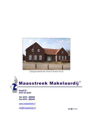 Brochure preview - maria hoop, diergaarderstraat west 9, website brochure