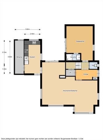 Floorplan - Burgemeester Bootlaan 3, 6711 JL Ede