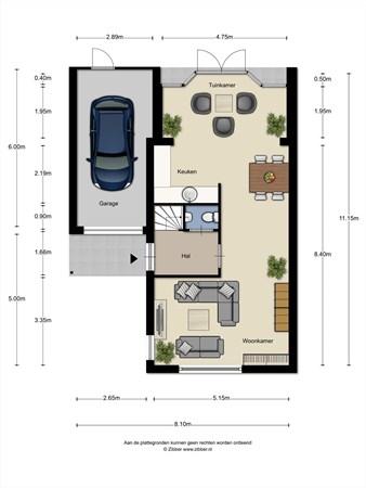 Floorplan - Schrevenhofdreef 10, 5709 RM Helmond