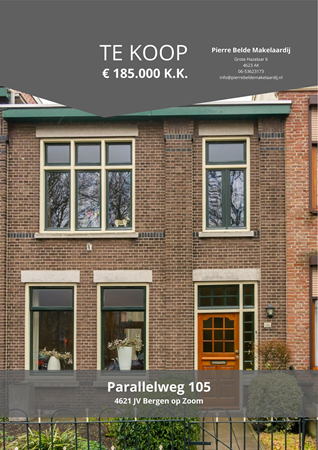 Brochure preview - Parallelweg 105, 4621 JV BERGEN OP ZOOM (1)