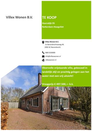 Te Koop Heersdijk 95 3194 Ka Hoogvliet Rotterdam Villex Wonen