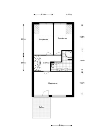 Floorplan - Karperveen 455, 3205 HD Spijkenisse