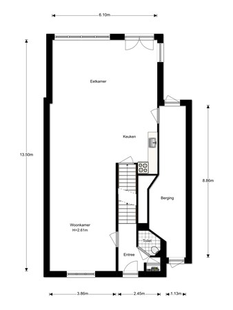 Floorplan - Welpenheuvel 20, 5425 PL De Mortel