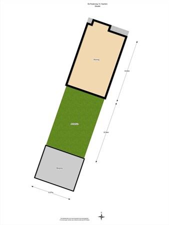 Floorplan - De Ruijterweg 14, 2014 AV Haarlem