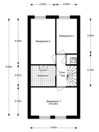 Floorplan - Zuidwijkring 192, 1705 KS Heerhugowaard