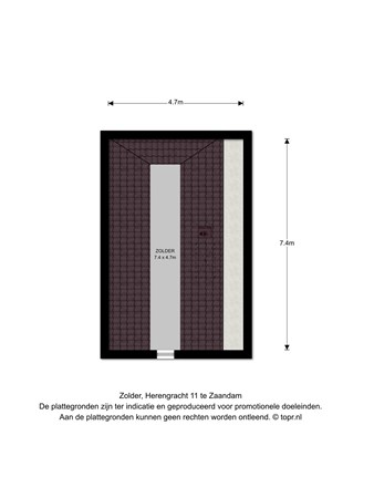 Floorplan - Herengracht 11, 1506 DM Zaandam
