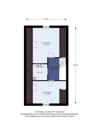 Floorplan - Oosterwerf 11, 1505 KC Zaandam