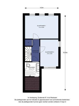 Floorplan - Zuideinde 67a, 1551 EB Westzaan
