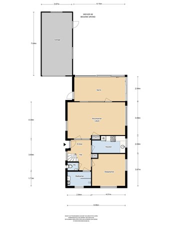 Floorplan - Weiver 68, 1551 SK Westzaan