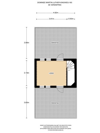 Floorplan - Ds. Martin Luther Kingweg 160G, 1504 DA Zaandam