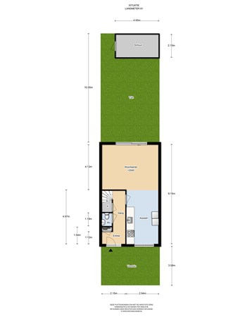 Floorplan - Landmeter 81, 1566 MR Assendelft