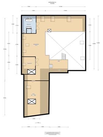 Floorplan - Dorpsstraat 48, 1566 AL Assendelft