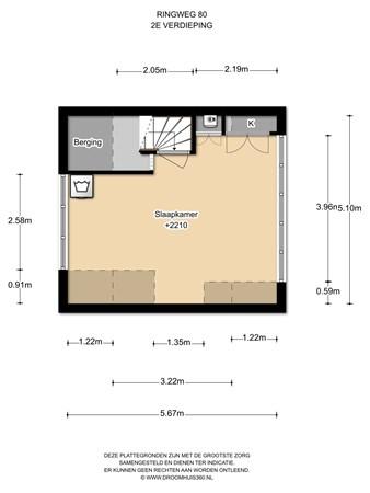 Floorplan - Ringweg 80, 1507 BK Zaandam