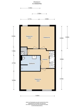 Floorplan - Piccolo 5A, 1507 TZ Zaandam