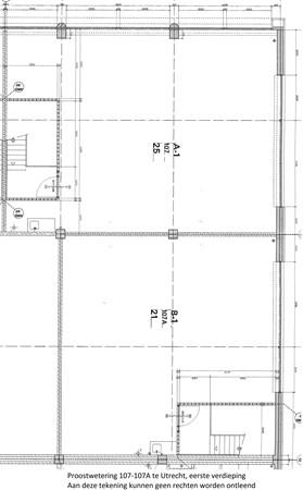 Floorplan - Proostwetering 107-107 A, 3543 AC Utrecht